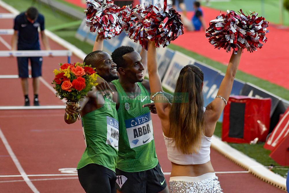 July 20, 2018 - Monaco, France - 800 metres hommes - Nijel Amos (Botswana) - Harun Abda  (Credit Image: © Panoramic via ZUMA Press)