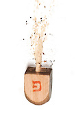 exploding Sevivon (or Dreidel) a spinning top traditionally played during Chanukah