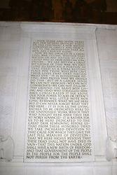 THEMENBILD - Die Gettysburg-Rede von Abraham Lincoln ist in der Suedseite des Lincoln Memorials eingemeisselt. Reisebericht, aufgenommen am 12. Jannuar 2016 in Washington D.C. // The Gettysburg Address by Abraham Lincoln is chiselled in the south of the Lincoln Memorial. Travelogue, Recorded January 12, 2016 in Washington DC. EXPA Pictures © 2016, PhotoCredit: EXPA/ Eibner-Pressefoto/ Hundt<br /> <br /> *****ATTENTION - OUT of GER*****