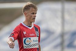 Andreas Smed (FC Helsingør) under træningskampen mellem FC Helsingør og Næstved Boldklub den 19. august 2020 på Helsingør Stadion (Foto: Claus Birch).
