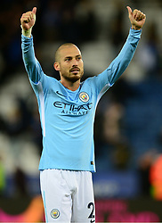 David Silva of Manchester City celebrates at full time. - Mandatory by-line: Alex James/JMP - 18/11/2017 - FOOTBALL - King Power Stadium - Leicester, England - Leicester City v Manchester City - Premier League