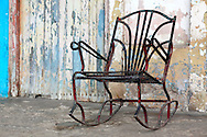 Rusty rocking chair in Ciego de Avila, Cuba.