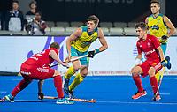 BHUBANESWAR, INDIA - Eddie Ockenden (Aus). England v Australia for the bronze medal during the Odisha World Cup Hockey for men  in the Kalinga Stadion.   COPYRIGHT KOEN SUYK