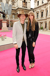 Johnny Borrell and EDIE CAMPBELL  at the Royal Academy of Arts Summer Party held at Burlington House, Piccadilly, London on 9th June 2010.