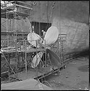 "P347-06. ""Dredge pump lines October 11, 1967"" (ship repair on deck, propellor"