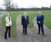 Repro Free: Minister Denis Naughten kicks off National Spring Clean 2017 in massive clean-up in his home county Roscommon' with Kathy Hogan from Mars who are sponsoring the campaign and Michael John O'Mahony  An Taisce<br />  Photo: Andrew Downes,  xposure