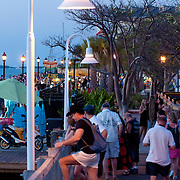 Scene on Key West Mallory Square after sunset