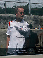 Photo: Glyn Thomas.<br />England v Trinidad & Tobago. Group B, FIFA World Cup 2006. 15/06/2006.<br /> England fans explore the Zeppelin field, the site of Adolf Hitler's infamous Nuremburg Rallies during the 1930s.