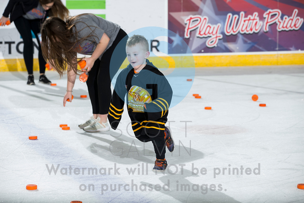 Youngstown Phantoms lose 4-2 to the Green Bay Gamblers at the Covelli Centre on January 25, 2020.<br /> <br /> chuck-a-puck