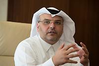 09 APR 2013, DOHA/QATAR<br /> Eng. Saad Ahmed Al Muhannadi, Chief Executive Officer Qatar Rail, waehrend einem gespraech mit Journalisten, Qatar Rail<br /> IMAGE: 20130409-01-003<br /> KEYWORDS: Katar