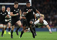 Rugby Union - 2017 Autumn Internationals - New Zealand vs. Barbarians<br /> <br /> Waisake Naholo of The All Blacks and Willie Britz of Barbarians at Twickenham.<br /> <br /> COLORSPORT/LYNNE CAMERON