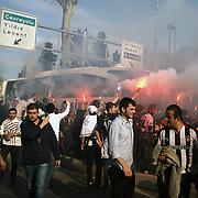 Besiktas's supporters during their Turkish superleague soccer match Besiktas between Sivasspor at BJK Inonu Stadium in Istanbul Turkey on Saturday, 24 April 2010. Photo by TURKPIX