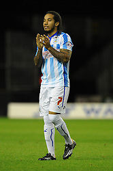 Huddersfield Town's goalscorer, Sean Scannell applauds the home fans - Photo mandatory by-line: Dougie Allward/JMP - Mobile: 07966 386802 - 01/10/2014 - SPORT - Football - Wolverhampton - Molineux Stadium - Wolverhampton Wonderers v Huddersfield Town - Sky Bet Championship