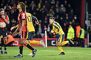 Arsenal Forward, Alexis Sanchez (7) pulls a goal back scores 3-1 during the Premier League match between Bournemouth and Arsenal at the Vitality Stadium, Bournemouth, England on 3 January 2017. Photo by Adam Rivers.