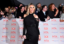 Danielle Armstrong attending the National Television Awards 2018 held at the O2 Arena, London. PRESS ASSOCIATION Photo. Picture date: Tuesday January 23, 2018. See PA story SHOWBIZ NTAs. Photo credit should read: Matt Crossick/PA Wire