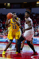 NORMAL, IL - December 07: LJ Bryan looks at the hoop but Rey Idowu is already acknowledging a whistle during a college basketball game between the ISU Redbirds and the Morehead State Eagles on December 07 2019 at Redbird Arena in Normal, IL. (Photo by Alan Look)