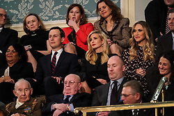 FEBRUARY 5, 2019 - WASHINGTON, DC: Jared Kushner, Ivanka Trump, Lara Trump, and Eric Trump during the State of the Union address at the Capitol in Washington, DC, USA on February 5, 2019. Photo by Doug Mills/Pool via CNP/ABACAPRESS.COM