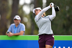 January 19, 2019 - Lake Buena Vista, FL, U.S. - LAKE BUENA VISTA, FL - JANUARY 19: .mara. tees off on hole 2 during the third round of the Diamond Resorts Tournament of Champions on January 19, 2019, at Tranquilo Golf Course at Fours Seasons Orlando in Lake Buena Vista, FL. (Photo by Roy K. Miller/Icon Sportswire) (Credit Image: © Roy K. Miller/Icon SMI via ZUMA Press)