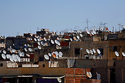 The skyline of Fes, Morocco has really changed with the addition of satellite dishes on nearly every rooftop in the city. This view is just above the famous tanneries on Thursday morning, May 31, 3007. (PHOTO BY TIMOTHY D. BURDICK)