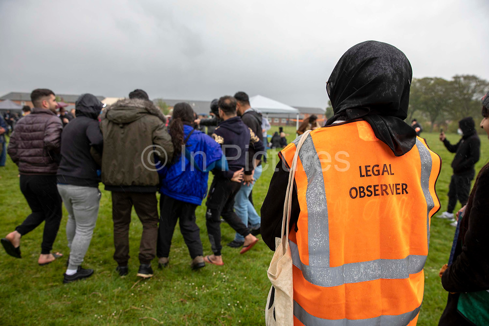 Legal observers were in attendance as 200 campaigners from different local groups came together today for a festival of solidarity with residents of Napier Barracks, a former military barracks that is being used as an assessment and dispersal facility for asylum seekers by the Home Office on the 21st of May 2021 in Folkestone, Kent, United Kingdom.