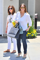 Jennifer Love Hewitt is all smiles in Brentwood. 12 Aug 2018 Pictured: Jennifer Love Hewitt. Photo credit: Marksman / MEGA TheMegaAgency.com +1 888 505 6342