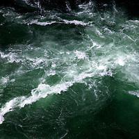 Canada, Ontario, Niagara Falls. The Niagara Whirlpool aerial view from the Aero Car attraction of Parks Canada.
