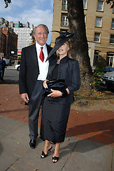 SIR MARK & LADY WEINBERG she is designer Anouska Hempel she designed the wedding dress at the wedding of Chloe Delevingne to Louis Buckworth at St.Paul's Knightsbridge, London on 7th September 2007.<br />