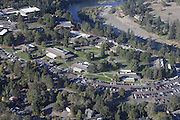 Oct 1, 2015 - Roseburg, Oregon, U.S. - <br /> <br /> Aerial view of Umpqua Community College, where a shooting with multiple fatalities occurred,<br /> ©Exclusivepix Media