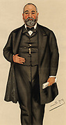 Paris Exhibition': Francis Philip Cunliffe-Owen (1828-1894) British civil servant.  Director of the South Kensington Museum of Arts and Sciences (1873-1893).   Organised the English Department in the Paris Exposition of 1878.   Cartoon by 'Spy'  (Leslie Ward, 1851-1922) from 'Vanity Fair'  (London, 23 November 1878).