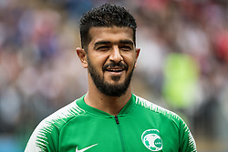 June 14, 2018 - Moscow, Russia - 180614 Goalkeeper Abdullah Almuaiouf of Saudi Arabia prior the FIFA World Cup group stage match between Russia and Saudi Arabia on June 14, 2018 in Moscow..Photo: Petter Arvidson / BILDBYRN / kod PA / 92065 (Credit Image: © Petter Arvidson/Bildbyran via ZUMA Press)