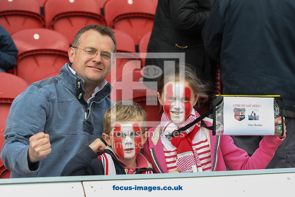 Picture by David Horn/Focus Images Ltd +44 7545 970036.27/04/2013.Brentford fans before the npower League 1 match at Griffin Park, London.