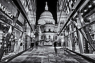 A view of St Paul's Cathedral from One New Change, London