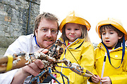 26/02/2013 Repro free.   Jp McManus  Anair, Ava Heneghan and Harry Donnelly both aged 5 from Headford at the  announcing of details of the 2nd Galway Food Festival which takes place in Galway from the 28th March till the 1st April during Easter weekend. Picture:Andrew Downes.