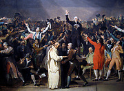 Sketch by Jacques-Louis David of the Tennis Court Oath. David later became a deputy in the National Convention in 1792