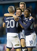 Football - 2017 / 2018 FA Cup - Third Round: Millwall vs. Barnsley<br /> <br /> Millwall players rush to congratulate Ben Thompson (Millwall FC) after he scores his teams second goal at The Den.<br /> <br /> COLORSPORT/DANIEL BEARHAM