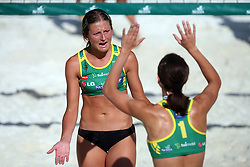 Snezana Rajak and Tjasa Dimec (Armal Team) at qualifications for 14th National Championship of Slovenia in Beach Volleyball and also 4th tournament of series TUSMOBIL LG presented by Nestea, on July 25, 2008, in Kranj, Slovenija. (Photo by Vid Ponikvar / Sportal Images)/ Sportida)