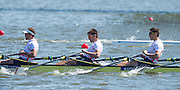 Brandenburg. GERMANY. GBR M4X, right to left. Sam TOWNSEND,Graeme THOMAS and Peter LAMBERT. 2016 European Rowing Championships at the Regattastrecke Beetzsee<br /> <br /> Saturday  07/05/2016<br /> <br /> [Mandatory Credit; Peter SPURRIER/Intersport-images]