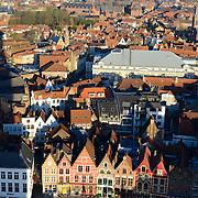 Brugge Panorama From Belfort Tower, Belgium