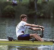 Lucerne, SWITZERLAND   SLO M2-, Bow Iztok COP. 1992 FISA World Cup Regatta, Lucerne. Lake Rotsee.  [Mandatory Credit: Peter Spurrier: Intersport Images] 1992 Lucerne International Regatta and World Cup, Switzerland