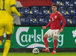 Joakim Mæhle (Danmark) under venskabskampen mellem Danmark og Sverige den 11. november 2020 på Brøndby Stadion (Foto: Claus Birch).