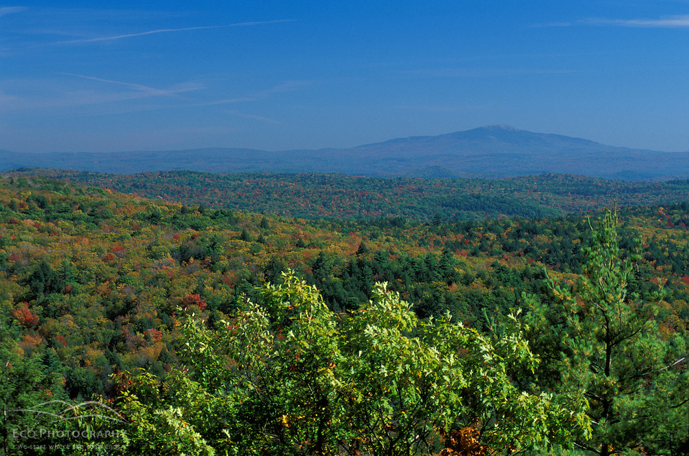 Mt. Monadnock as seen from Parker's Perch on Mt. Pisgah in Pisgah State Park.  Winchester, NH