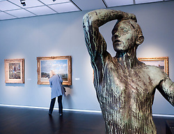 Sculpture and paintings at Wallraf Richartz museum in Cologne Germany