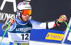 15.02.2021, Cortina, ITA, FIS Weltmeisterschaften Ski Alpin, Alpine Kombination, Herren, Super G, im Bild Luca Aerni (SUI) // Luca Aerni of Switzerland reacts after the Super G competition for the men's alpine combined of FIS Alpine Ski World Championships 2021 in Cortina, Italy on 2021/02/15. EXPA Pictures © 2021, PhotoCredit: EXPA/ Erich Spiess