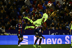 January 10, 2019 - Valencia, Spain - ALEIX VIDAL of FC Barcelona (T) and Levante's defender Ruben Rochina (B)  during  spanish King Cup  match between Levante UD v FC Barcelona  at Ciutat de Valencia  Stadium on January  10, 2018. (Photo by Jose Miguel Fernandez/NurPhoto) (Credit Image: © Jose Miguel Fernandez/NurPhoto via ZUMA Press)