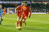 Luton Town forward Harry Cornick (14) on the ball during the EFL Sky Bet League 1 match between Luton Town and Bradford City at Kenilworth Road, Luton, England on 27 November 2018.