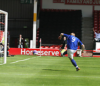 Photo: Mark Stephenson.<br /> Walsall v Birmingham City. Pre Season Friendly. 28/07/2007.Birmingham's new signing  Mikael Forsell scores with his first touch of the ball