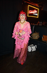 ZANDRA RHODES at a party to celebrate Zandra Rhodes's return to London Fashion week and the launch of a limited edition of M.A.C makeup at Silver, 17 Hanover Square, London W1 on 20th September 2006.<br /><br />NON EXCLUSIVE - WORLD RIGHTS