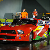 Shane Kosteszyn (347) in his Pro Stock bodied Ford Mustang.