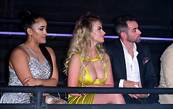 Chloe Ayling and Ben Jardine in the crowd during the live final of Celebrity Big Brother at Elstree Studios, Hertfordshire.