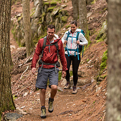 A couple hikes through the forest on Beech Mountain in Maine's Acadia National Park.